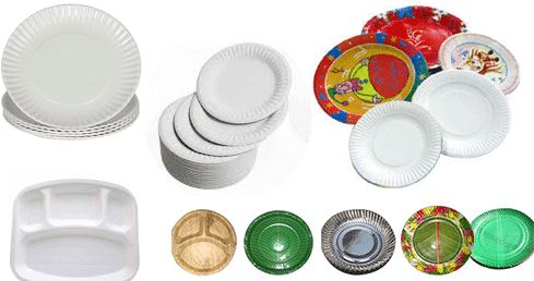 Different Types of Paper Plates.