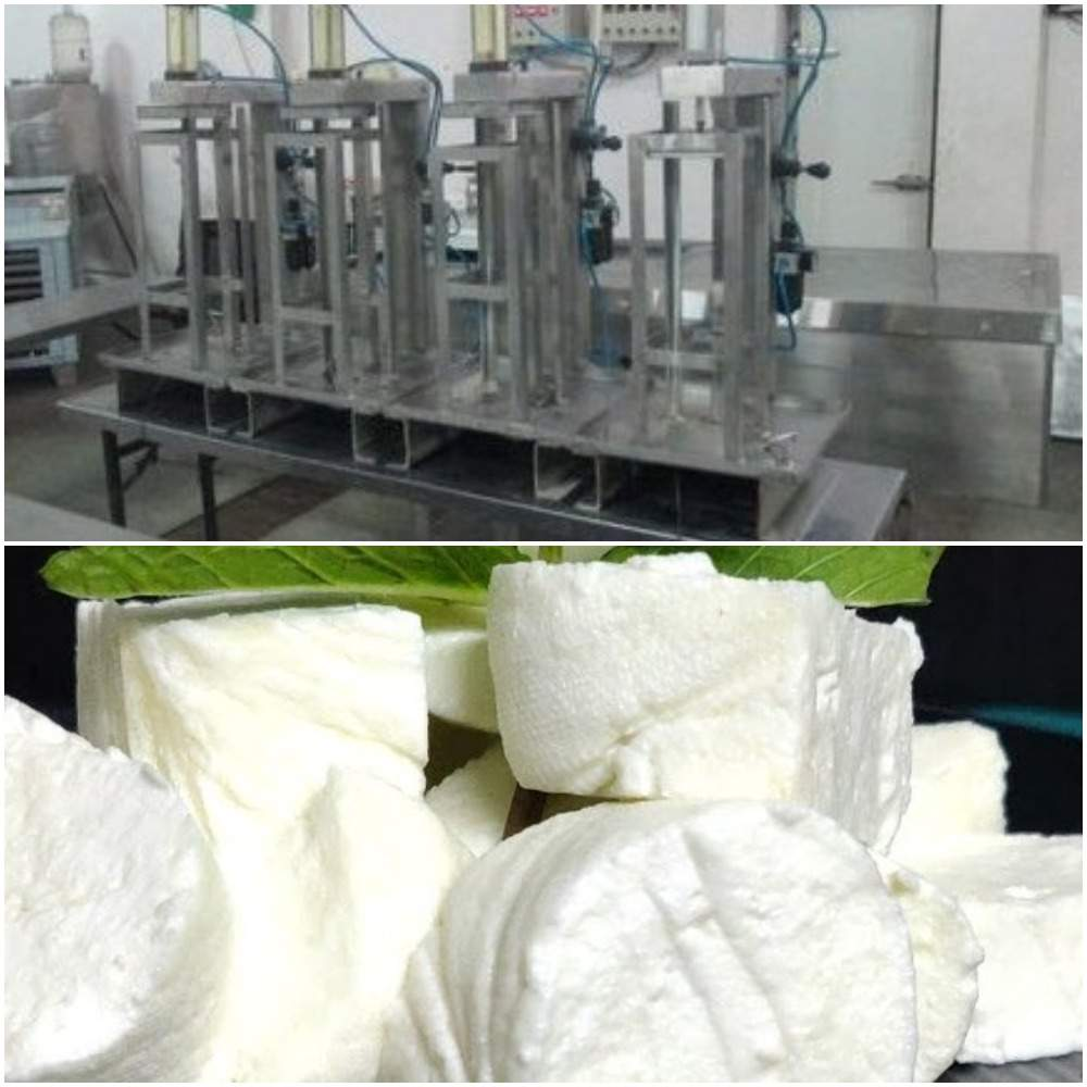 The machinery required for Paneer production.